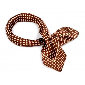 Polka dot Scarf [Brown]