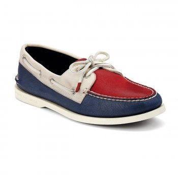 Mens Original Burnished Boat Shoe [Red Cement Dark Blue]