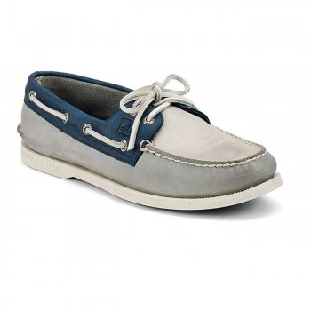 Mens Original Burnished Boat Shoe [Granatowy Popiel Biel]