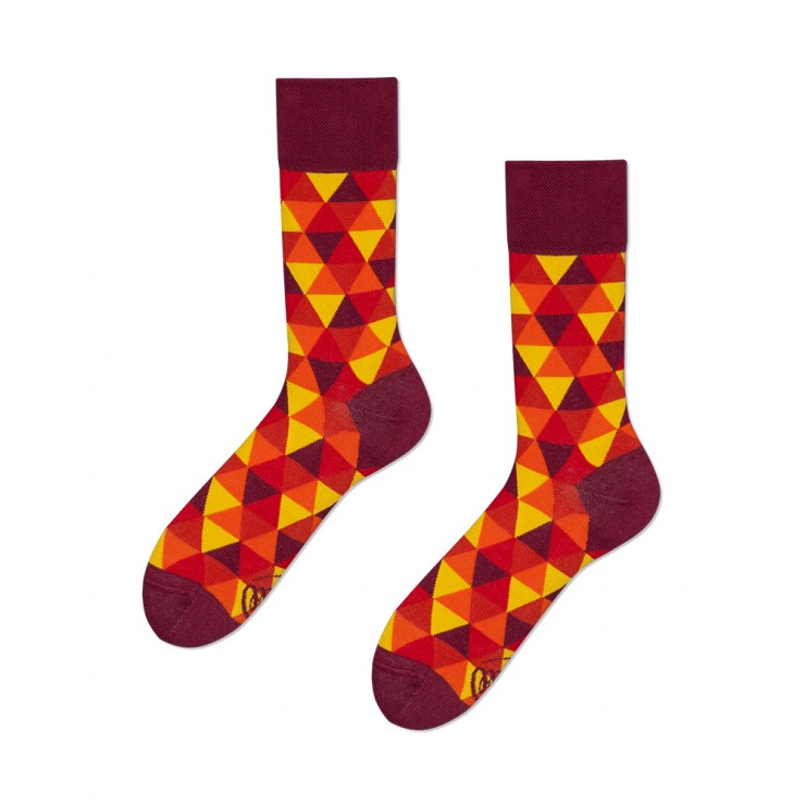 Socks - Flame Triangles