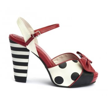 Angie P Pump [Black + White + Red]