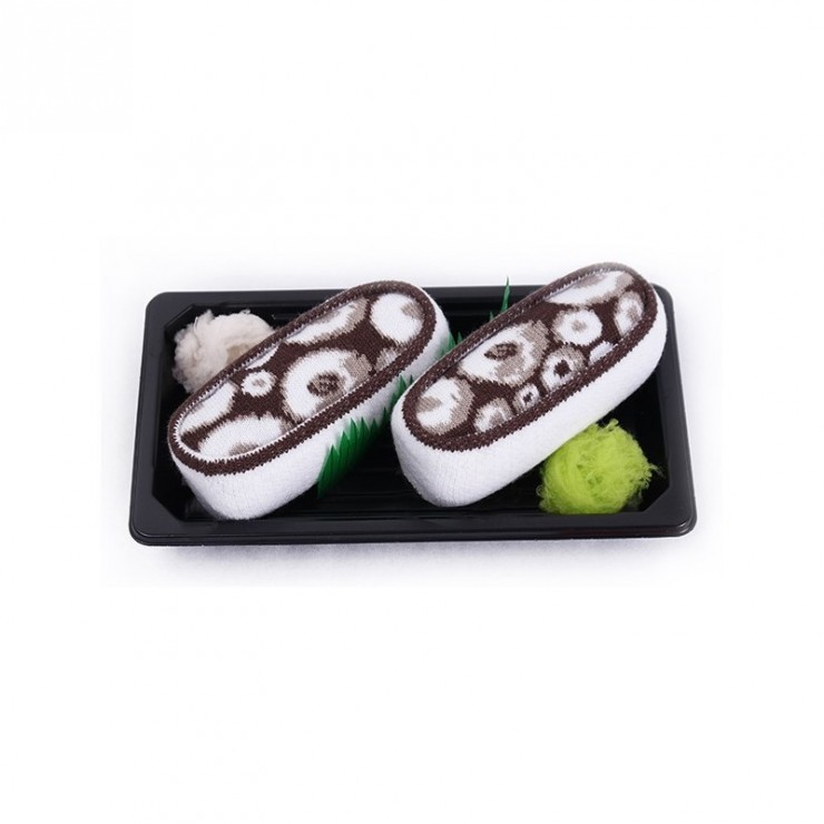 Socks - Sushi Socks Box - Octopus [Brown]