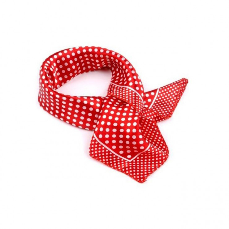 Polka dot Scarf [Red]
