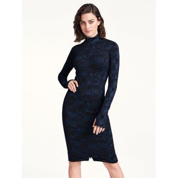 Josephine Dress [Navy Opal + Black]