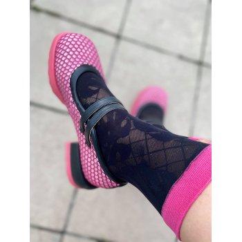 Socks - Pink Monstera