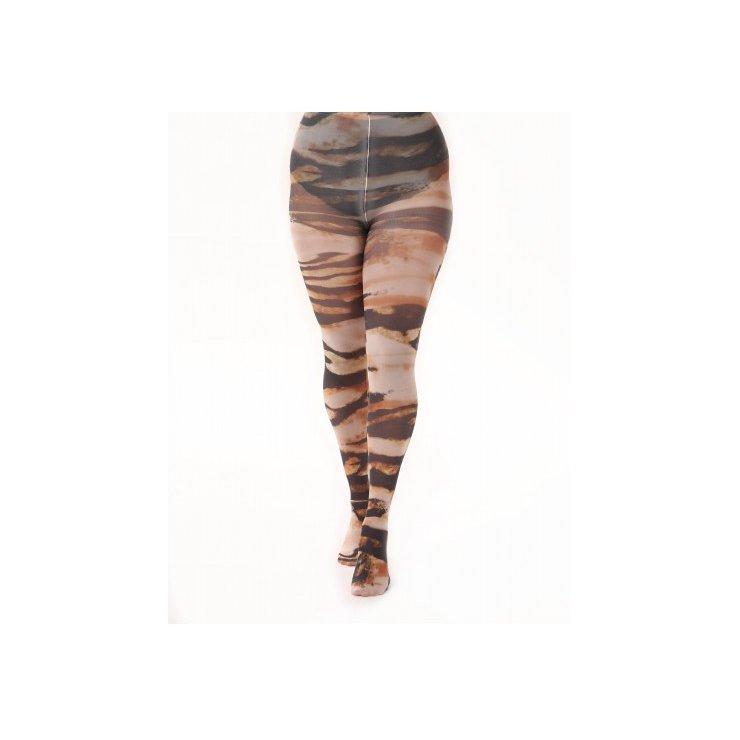 Abstract Tiger Printed Tights