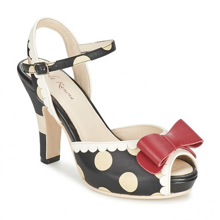 Angie Sandal [Black + White + Red]